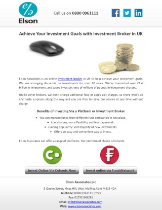 Achieve Your Investment Goals with Investment Broker in UK