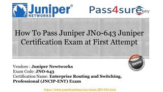 Pass4sure JN0-643 Dumps - Enterprise Routing and Switching
