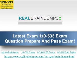 Get Real Exam Question And Answers For Oracle 1z0-533