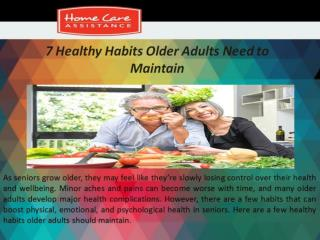7 Healthy Habits Older Adults Need to Maintain