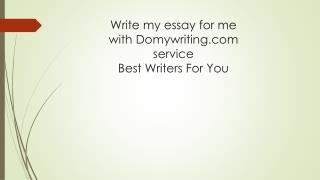 Essay writing service - type my essay for me