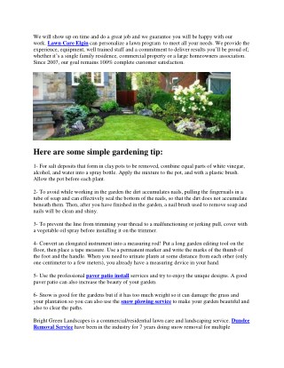 Some Simple Gardening Tips and Tricks