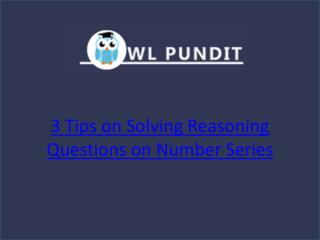 Tips on cracking Reasoning Questions on Number Series