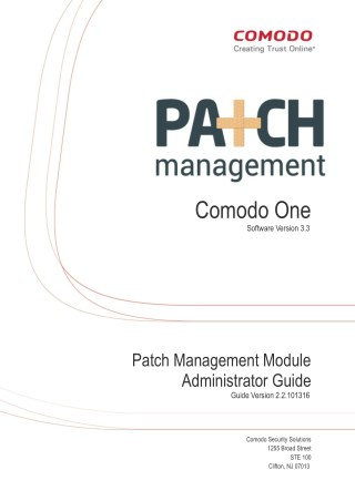 Patch Management Setup Guide - Comodo One