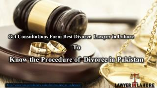 Top Divorce Lawyer in Lahore Pakistan