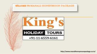 Honeymoon package in Manali - Manali Honeymoon package in India