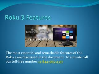 Roku 3 Features