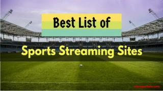 Top 10 best free sports streaming websites to watch live