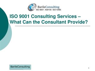 ISO 9001 Consulting Services – What Can the Consultant Provide?
