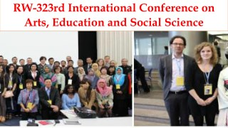 RW-323rd International Conference on Arts, Education and Social Science