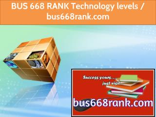 BUS 668 RANK Technology levels / bus668rank.com