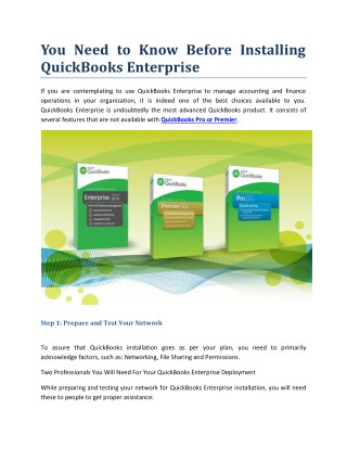 You Need to Know Before Installing QuickBooks Enterprise