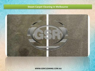 Steam Carpet Cleaning in Melbourne - GSR Cleaning Services
