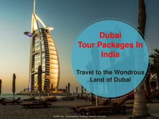 Dubai Tour Packages In India