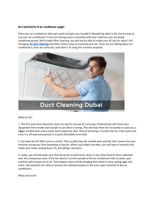 Moltocare | Best AC Cleaning Service Provider in Dubai, UAE