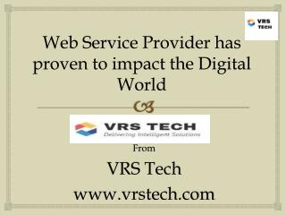 Web Service Provider has proven to impact the digital world