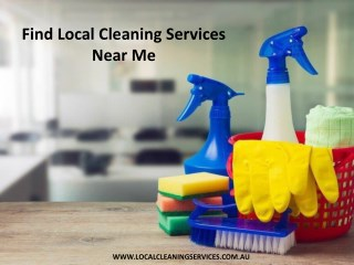 Find Local Cleaning Services Near Me