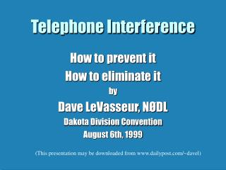 Telephone Interference