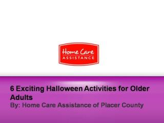 6 Exciting Halloween Activities for Older Adults