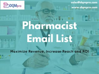Pharmacist Email List | Email Marketing Lists | Pharmacist Database