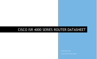 CISCO 4000 SERIES ROUTER DATASHEET