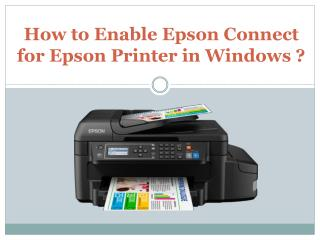 How to enable Epson Connect for Epson printer in Windows?
