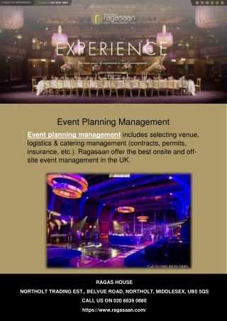 Event Planning Management