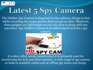 5 latest Spy Hidden Camera l Pinhole Camera