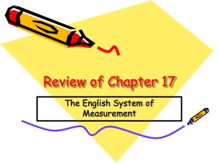 Review of Chapter 17