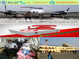 High-tech Sky Air Ambulance from Patna to Delhi with Medical team