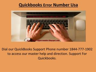 Quickbooks Error Number Usa