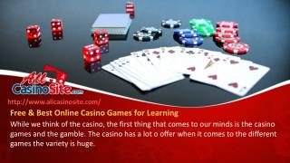 Free & Best Online Casino Games for Learning