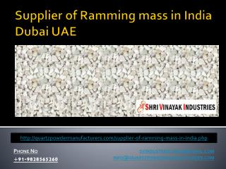 Supplier of Ramming mass in India Dubai UAE