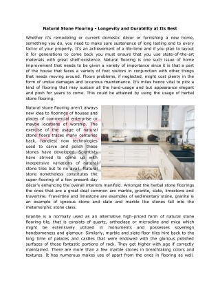 Buy Natural Tile Stone Flooring in Langley