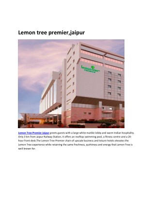 Lemon Tree Premier Jaipur