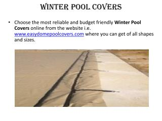 Solid Pool Covers