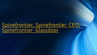 Spinefronteir Leader in Spine Surgeries