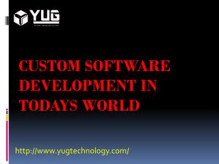 Custom Software Development in Todays World