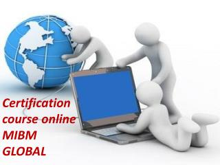 Certification course online for various domains of job
