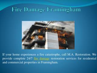 Fire Damage Framingham