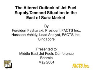 The Altered Outlook of Jet Fuel Supply