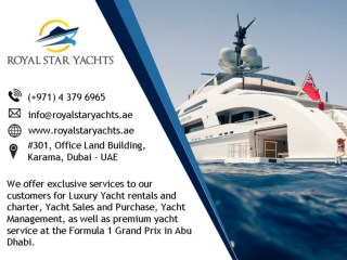 Dubai Boat Charter Trips by Royal Star Yachts