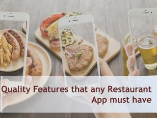 What it takes to develop a restaurant app?