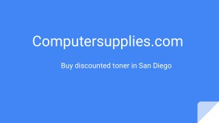 Buy discounted toner in San Diego