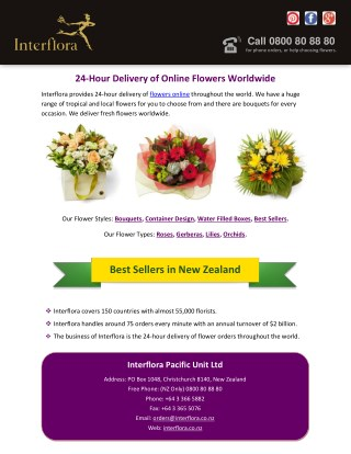 24-Hour Delivery of Online Flowers Worldwide