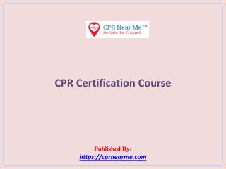 CPR Near Me: CPR Certification Course
