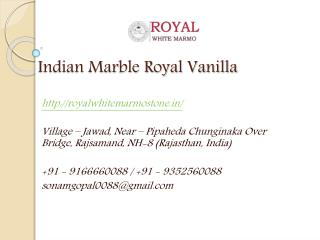 Indian Marble Royal Vanilla