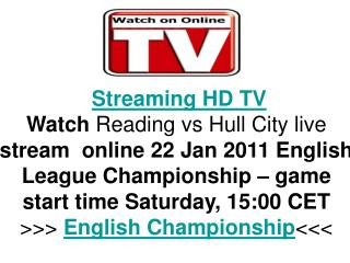 Reading vs Hull City live FLC Hq Tv Streaming