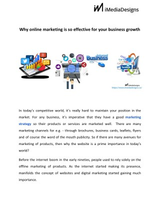 Online marketing so effective for business growth