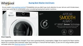 10 Considerations To Bear in Mind While Buying a Washing Machine